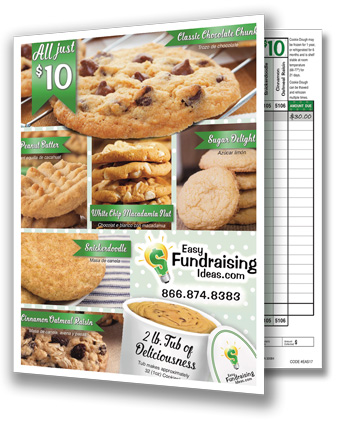 $10 Frozen Cookie Dough Tub Fundraiser