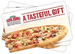 Papa Johns Fundraising Pizza Discount Cards